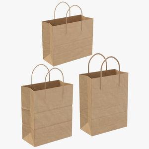 paper shopping bags handles model