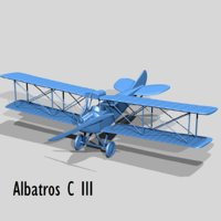 albatros c iii germany 3D model