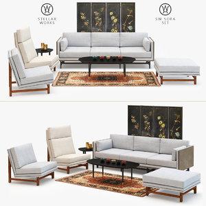 stellar works sw sofa 3D model