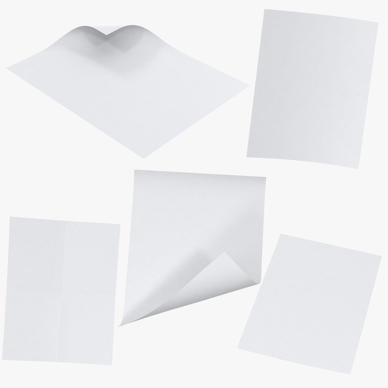 Single Paper Sheet Mockups