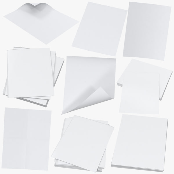 single paper sheets small model