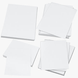 3D small stacks paper mockups