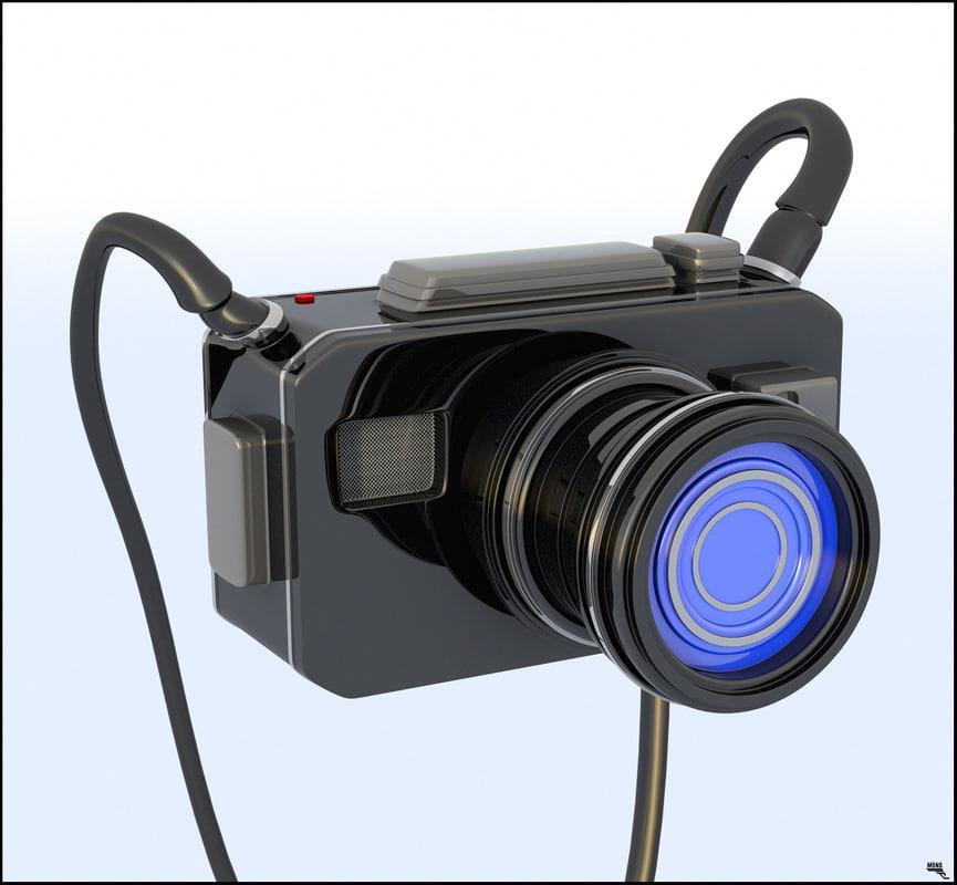 cartoon camera 3D