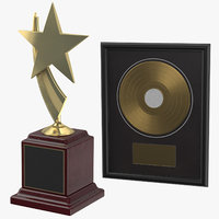 3D award film plaque