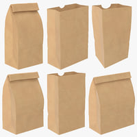 3D grocery bags handles mockup