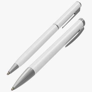 promotional ink pens mockup 3D model