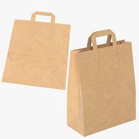 3D grocery bags handles mock
