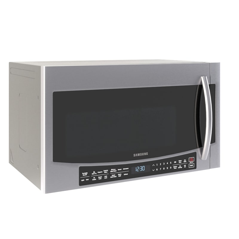 microwave samsung mc17j8000 wall 3D model
