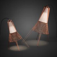 3D model a-cote lamp schema