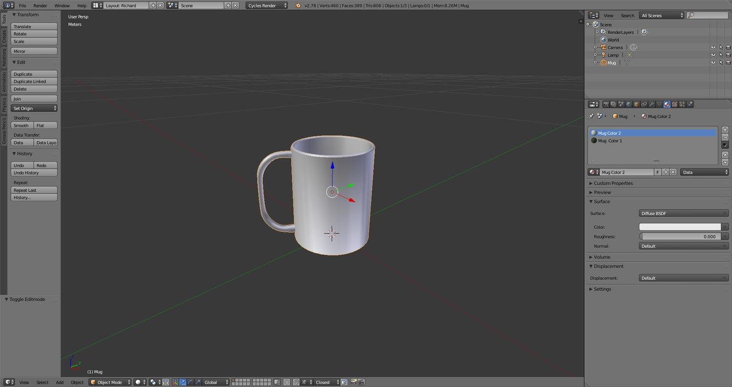 green mug 3D model