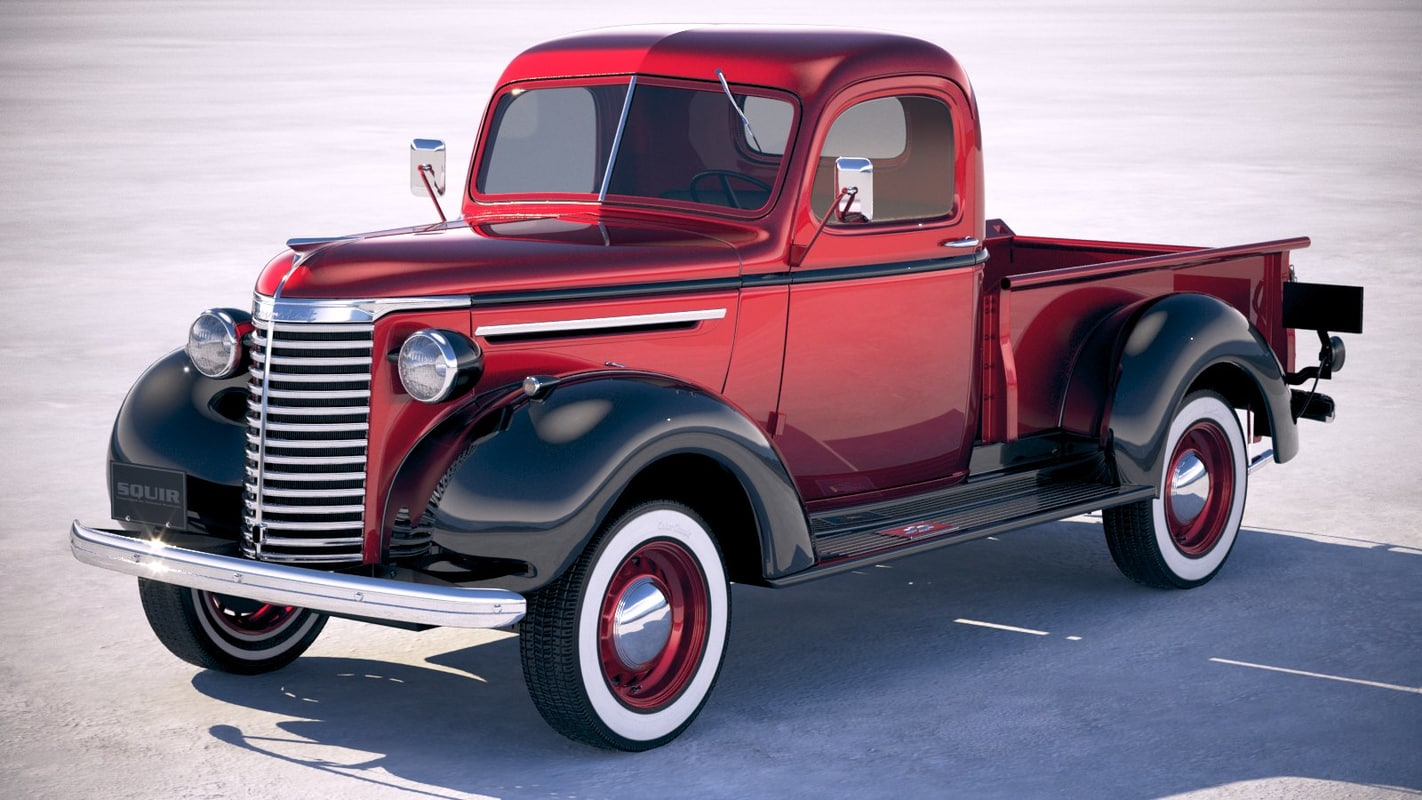 Chevrolet Truck Models >> Chevrolet Pickup Truck 3d Model Turbosquid 1235881