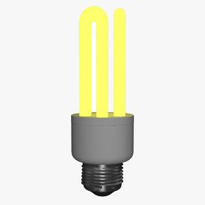 3D fluorescent energy saver bulbs