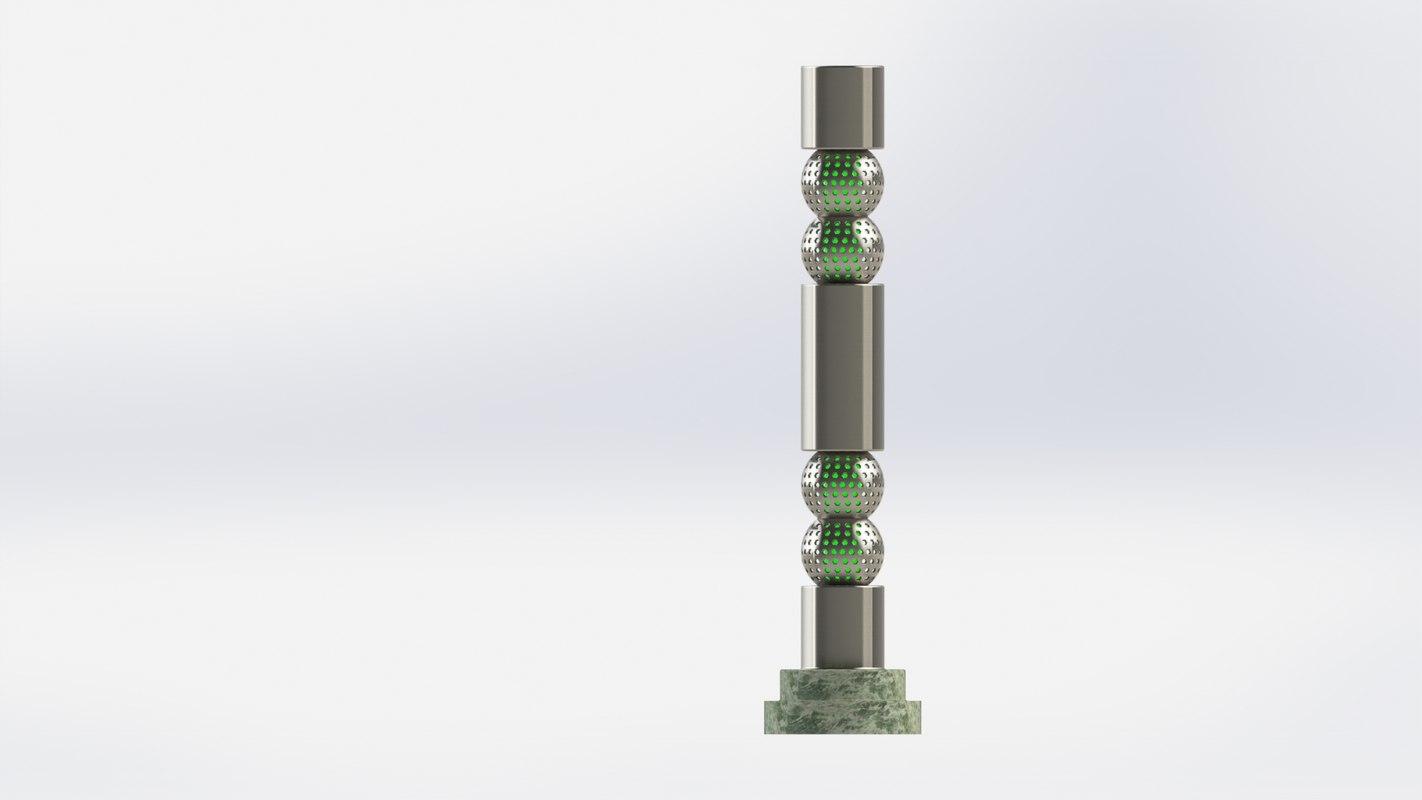 3D modeled solidworks metal model