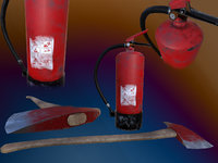 extinguisher axe 3D