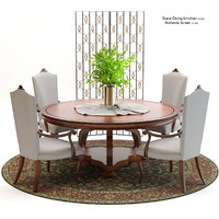 christopher dining set 3D model