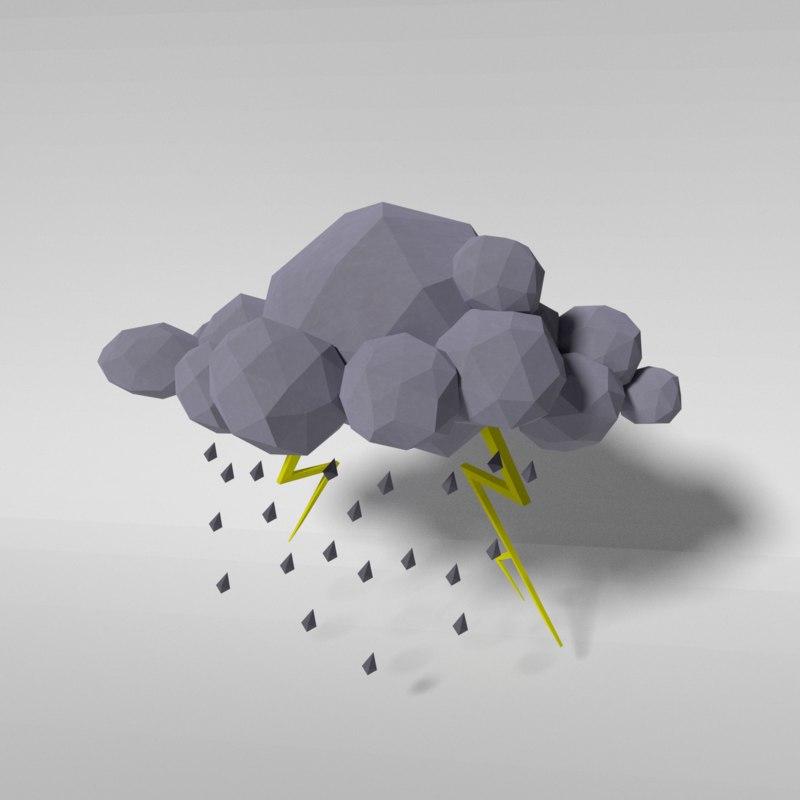 white cloud - storm model