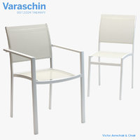 3D model varaschin victor armchair chair