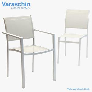 3D model varaschin victor armchair chair