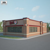 3D model wendys restaurant