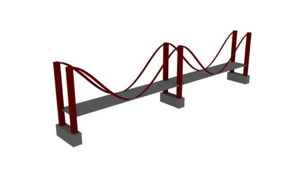 low-poly bridge 3D model