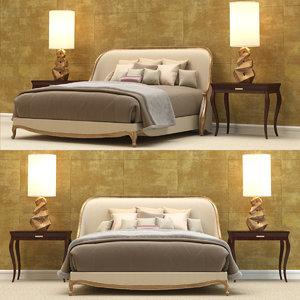 3D christopher guy bedroom set model