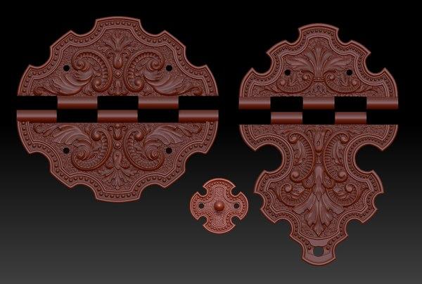 brass element box 3D model
