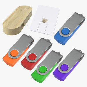 3D promotional usb sticks closed