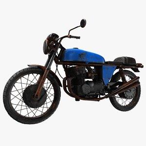 3D model vintage motorbike