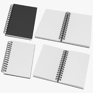 spiral sketchbooks 03 3D model