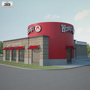 wendys restaurant 3D model