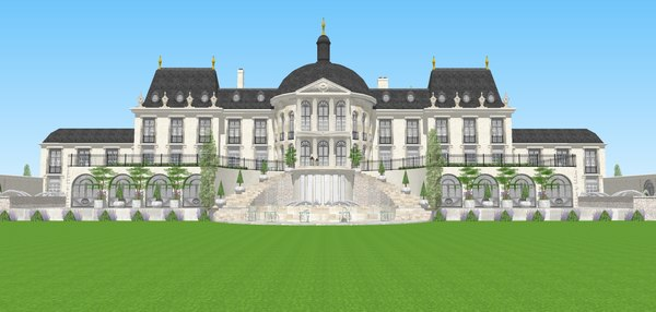 3D architectural sketchup exteriors model