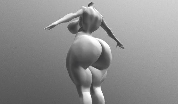 headless muscular 3D