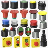 3D buttons set 01