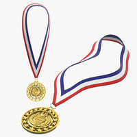 3D olympic medals gold