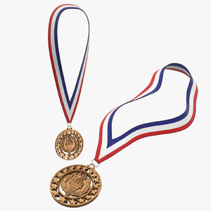 3D model olympic bronze medals