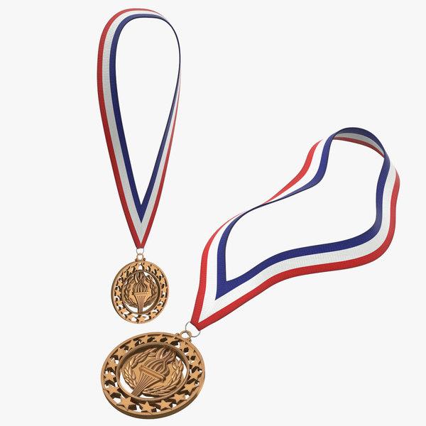 3D model olympic bronze medals