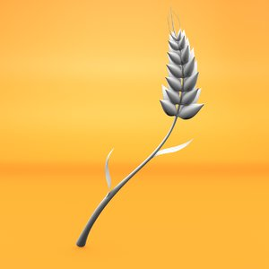 cartoon wheat 3D model