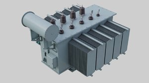 3D electrical transformer 2a model