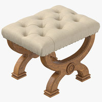classical stool 3D