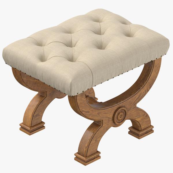 classical stool 3D