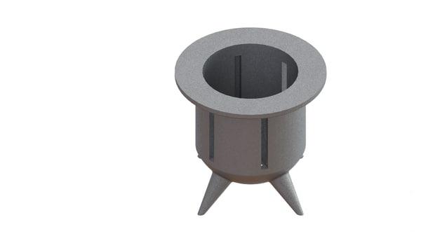3D model modeled metal