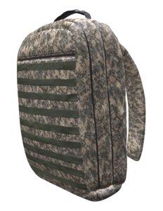 medical military backpack 3D model