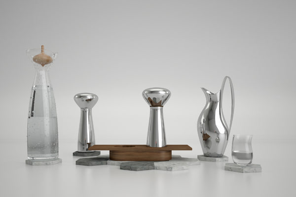 decoration georgjensen kitchen 3D model