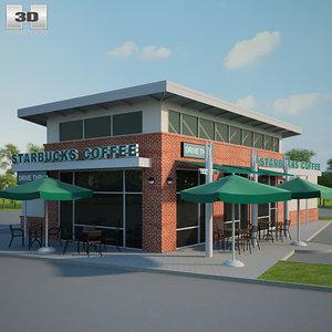 starbucks restaurant 3D model