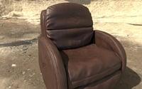 3D recliner sofa model