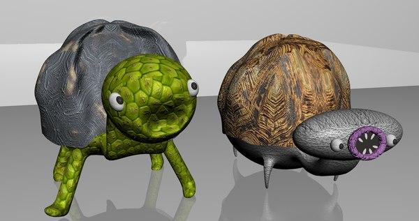 normal tortoise zombie creatures 3D model
