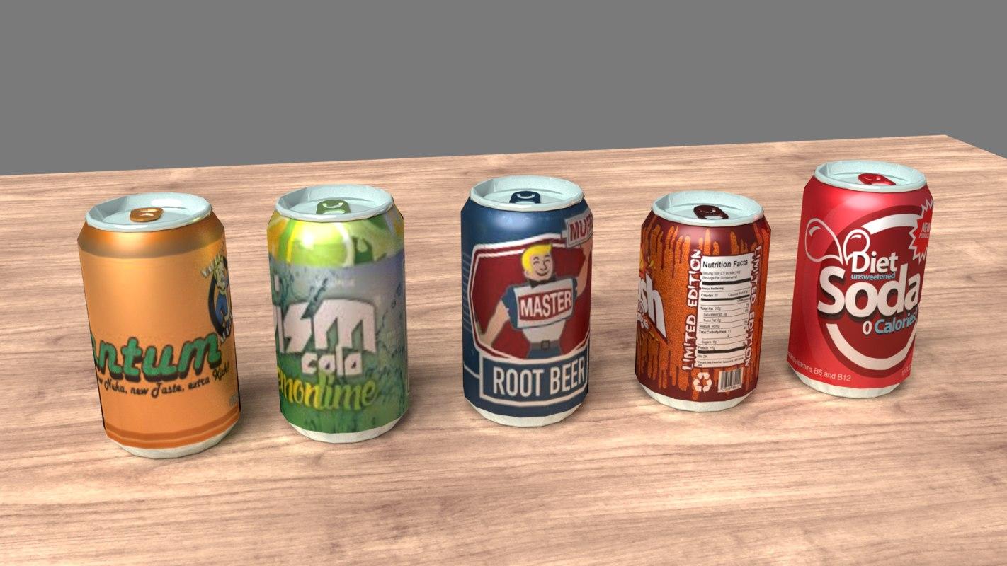 3D soda cans model