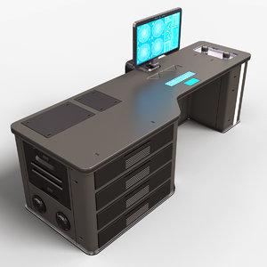 sci fi lab table 3D