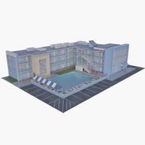 3D motel building