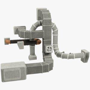 3D ventilation pipe